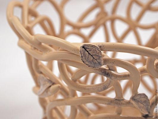 Кашпо для орхидей. Плетеная керамика Елены Зайченко