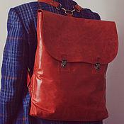 Сумки и аксессуары ручной работы. Ярмарка Мастеров - ручная работа Кожаный рюкзак крэйзи хорс. Handmade.