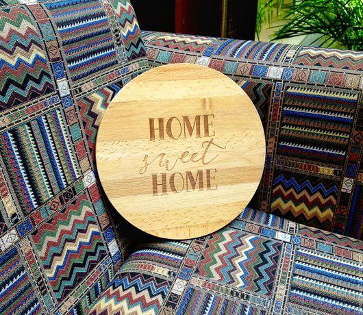 Кухня ручной работы. Ярмарка Мастеров - ручная работа. Купить Разделочная доска Home sweet home. Handmade. Доска, деревянный