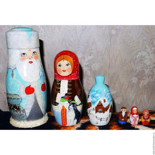 """Матрешки ручной работы. Ярмарка Мастеров - ручная работа. Купить Матрёшка """"Морозко"""". Handmade. Комбинированный, подарки к праздникам, краски"""