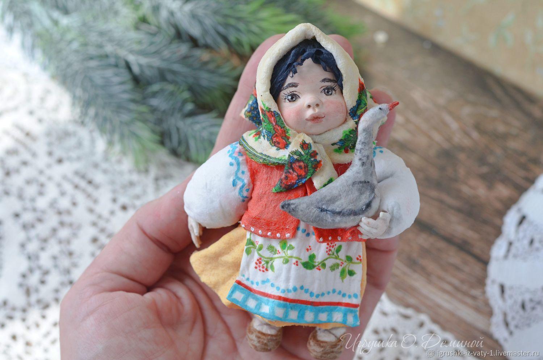 Аленушка. Ватная игрушка, Народная кукла, Ижевск,  Фото №1