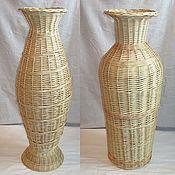 Для дома и интерьера handmade. Livemaster - original item Wicker floor vase made of willow vine. Handmade.