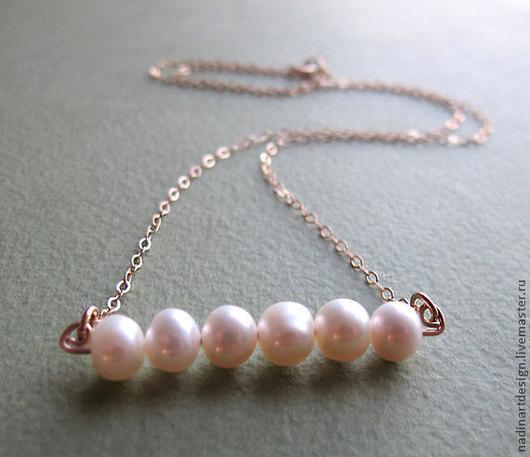 Ожерелье с жемчужной подвеской