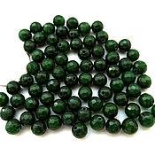 Материалы для творчества ручной работы. Ярмарка Мастеров - ручная работа Агат 74 камня набор зеленый бусины с огранкой 6 мм мелкие. Handmade.