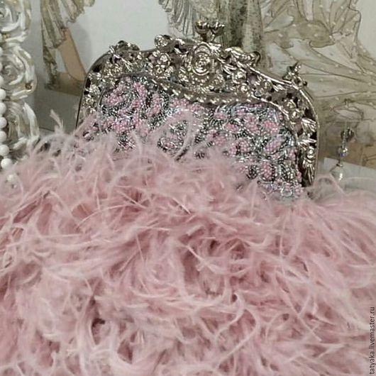 Женские сумки ручной работы. Ярмарка Мастеров - ручная работа. Купить Сумка из перьев. Handmade. Бледно-розовый, сумка