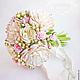 Свадебные цветы ручной работы. Заказать Букет невесты с пионами и розами из полимерной глины. Юлия Шепелева Lovely Flowers Lab. Ярмарка Мастеров.
