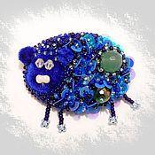 """Украшения ручной работы. Ярмарка Мастеров - ручная работа Брошь """"Синяя овечка"""".. Handmade."""