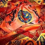 """Аксессуары ручной работы. Ярмарка Мастеров - ручная работа Платок батик """"Жаркая Африка"""". Handmade."""