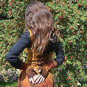 Аксессуары ручной работы. Ярмарка Мастеров - ручная работа Митенки Рябиновый цвет. Handmade.