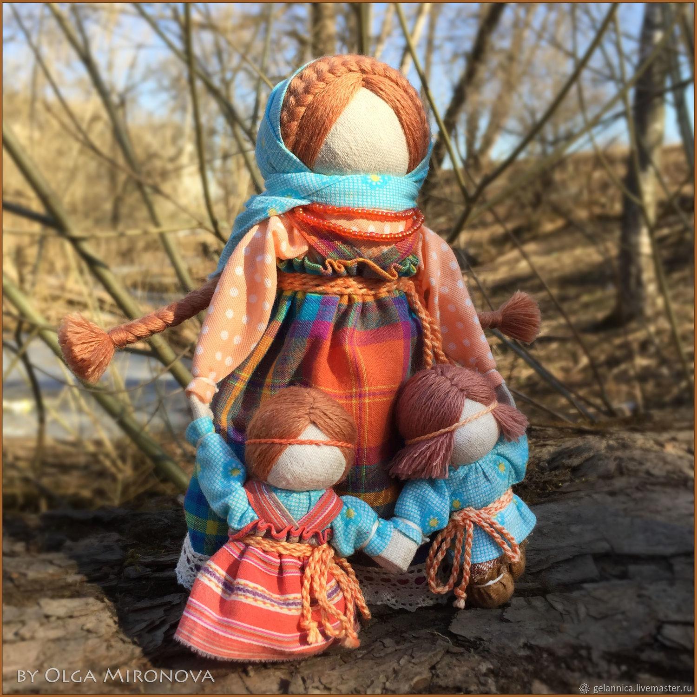 Ведучка с двумя детками, Народная кукла, Санкт-Петербург,  Фото №1