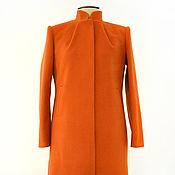"""Одежда ручной работы. Ярмарка Мастеров - ручная работа Пальто осеннее """"Оранжевый Кружевной"""". Handmade."""