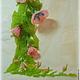 Блокноты ручной работы. Нежно-розовый вьюн. Силина Юлия (Julia-art). Ярмарка Мастеров. Цветы из бисера, день рождения