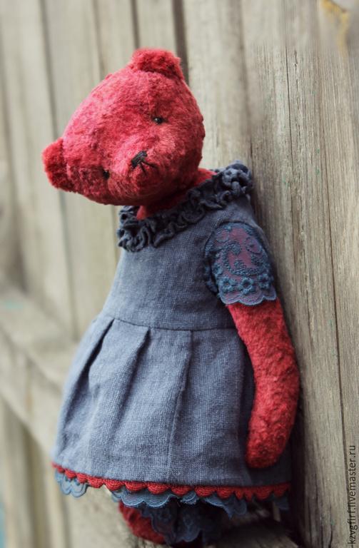 Мишки Тедди ручной работы. Ярмарка Мастеров - ручная работа. Купить Бордо. Handmade. Бордовый, подарок, кружево