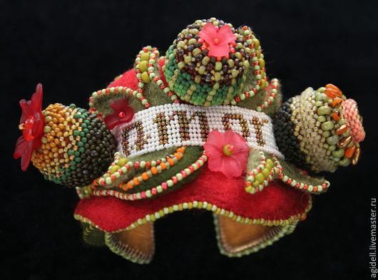 """Браслеты ручной работы. Ярмарка Мастеров - ручная работа. Купить Браслет """"Amor"""". Handmade. Мексика, красный, украшения, основа для браслета"""