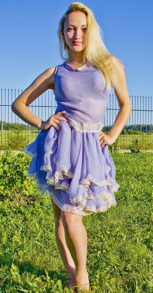 Платья ручной работы. Ярмарка Мастеров - ручная работа. Купить Платье Сиреневое облако. Handmade. Сиреневый