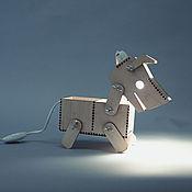 """Для дома и интерьера ручной работы. Ярмарка Мастеров - ручная работа Лампа """"Собака"""". Handmade."""