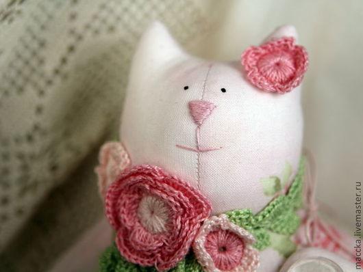 Куклы Тильды ручной работы. Ярмарка Мастеров - ручная работа. Купить Тильда Летящая кошечка. Handmade. Бледно-розовый