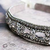 Украшения handmade. Livemaster - original item The beaded headband (headband in Greek style) Silver. Handmade.