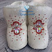 Пинетки-угги (сапожки) со стразами – купить в интернет-магазине на ... 8d7f93be8b7