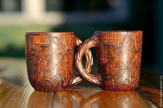 Кружки и чашки ручной работы. Ярмарка Мастеров - ручная работа. Купить Керамическая кружка Таинственный Лес глиняная чашка посуда. Handmade.
