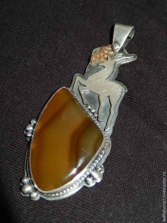 The suspension of silver 'Silver hoof', Pendants, Ekaterinburg,  Фото №1