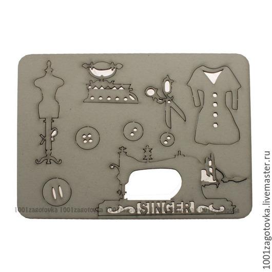 Аппликации, вставки, отделка ручной работы. Ярмарка Мастеров - ручная работа. Купить 690.9 Картонный чипборд с тематическими заготовками для творчества. Handmade.