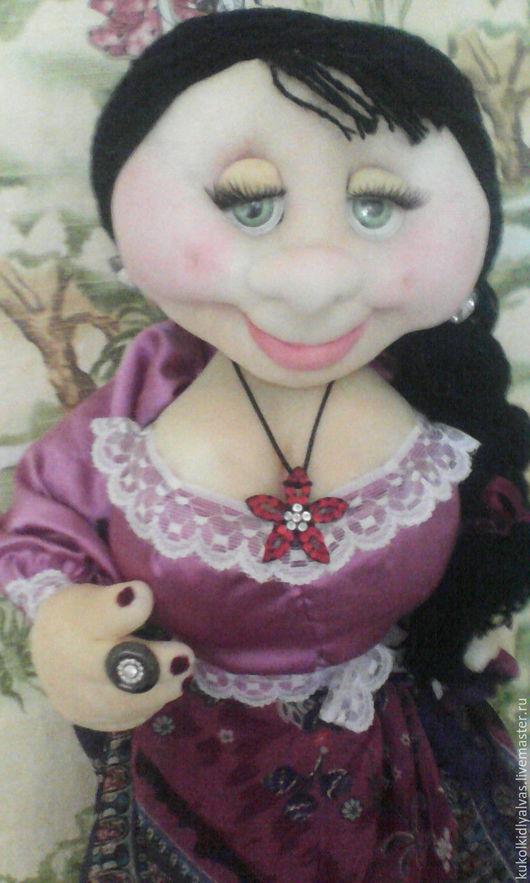 Кухня ручной работы. Ярмарка Мастеров - ручная работа. Купить Кукла-пакетница чулочная. Handmade. Брусничный, кукла в подарок