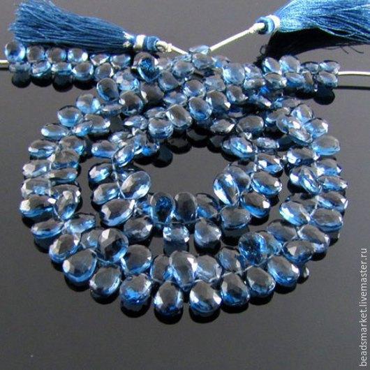Для украшений ручной работы. Ярмарка Мастеров - ручная работа. Купить Бусины Лондон Топаз ( London-blue ) груша. Handmade.