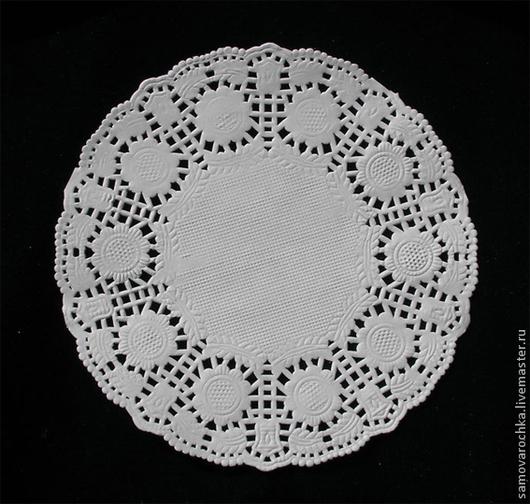 Упаковка ручной работы. Ярмарка Мастеров - ручная работа. Купить Салфетка ажурная диаметр 10 см, 100 шт/уп. Handmade.