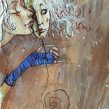 """Картины и панно ручной работы. Ярмарка Мастеров - ручная работа """"Мой маленький секрет...   """". Handmade."""