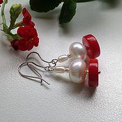 Украшения handmade. Livemaster - original item Earrings red coral
