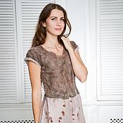 """Одежда ручной работы. Ярмарка Мастеров - ручная работа Валяное платье """" Simple Brown"""". Handmade."""