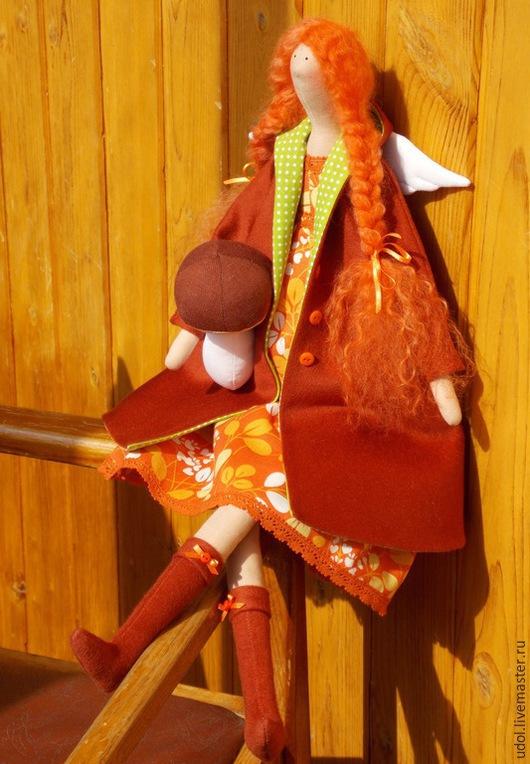 """Куклы Тильды ручной работы. Ярмарка Мастеров - ручная работа. Купить Текстильная кукла """"Осенний ангел"""". Handmade. Рыжий, тильда"""