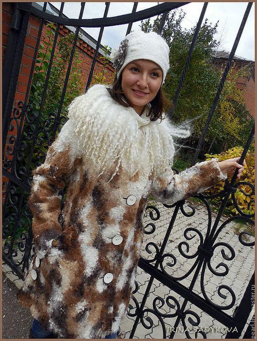 """Верхняя одежда ручной работы. Ярмарка Мастеров - ручная работа. Купить Пальто зимнее """"BELLO"""". Handmade. Натуральные цвета, меринос"""