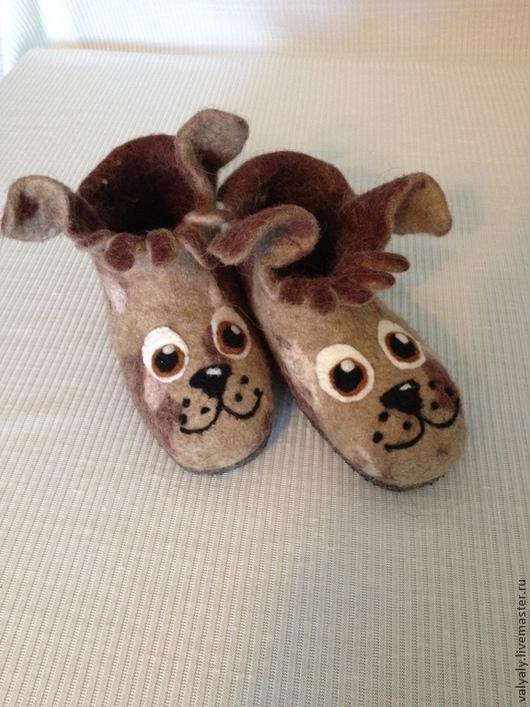 """Обувь ручной работы. Ярмарка Мастеров - ручная работа. Купить Валяная домашняя обувь.Валеночки """"Мой маленький друг"""". Handmade."""