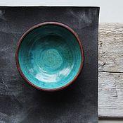 """Посуда ручной работы. Ярмарка Мастеров - ручная работа Пиала """"Бирюзовая"""". Handmade."""