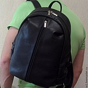 Сумки и аксессуары handmade. Livemaster - original item Backpack leather city of the big 40. Handmade.