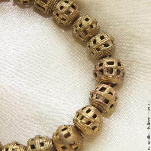 Для украшений ручной работы. Ярмарка Мастеров - ручная работа. Купить РЕШЕТКА африканские металлические бусины. Handmade. Африка