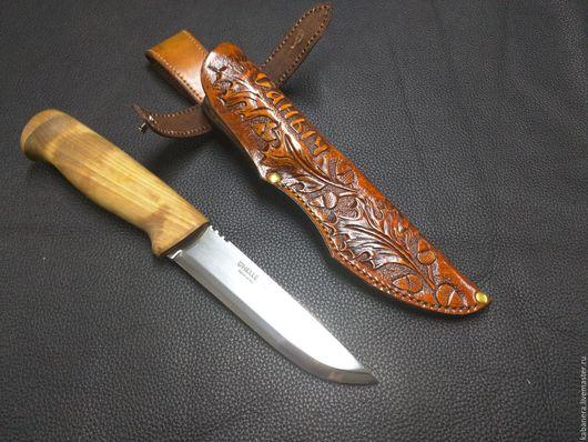 Оружие ручной работы. Ярмарка Мастеров - ручная работа. Купить Ножны для ножа, чехол для ножа.. Handmade. Комбинированный, натуральная кожа