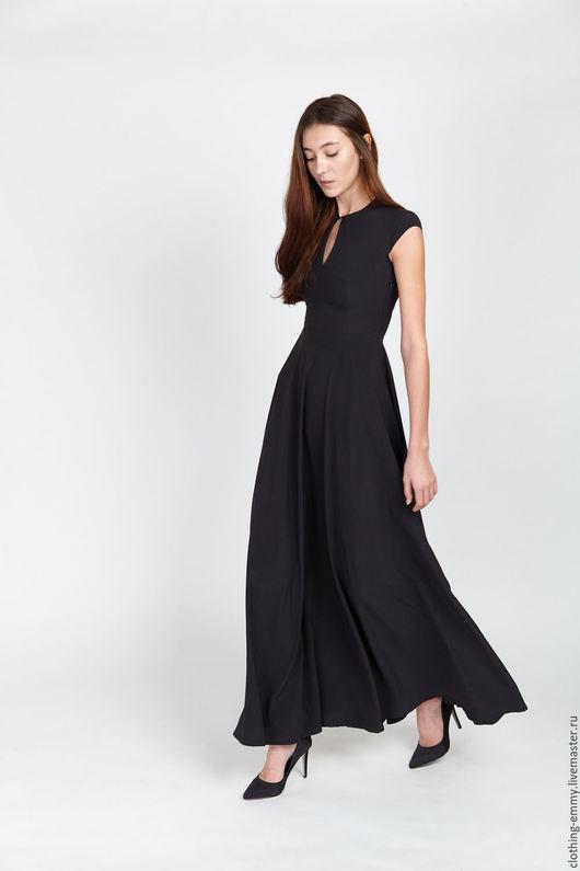 Платья ручной работы. Ярмарка Мастеров - ручная работа. Купить Идеальное черное платье. Handmade. Черный, вечернее платье