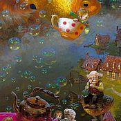 """Картины и панно ручной работы. Ярмарка Мастеров - ручная работа Детская картина маслом """"Сказки на ночь"""" 40/60см. Handmade."""