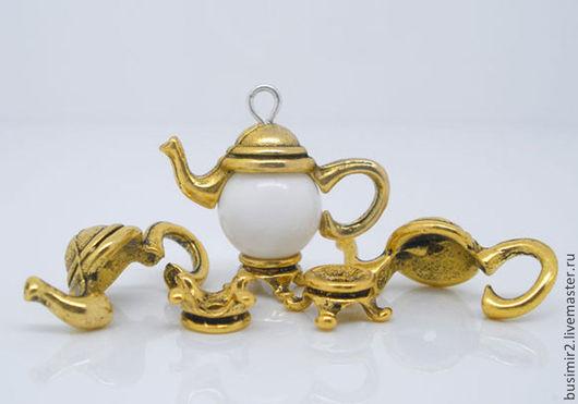 Шапочка для бусин, цвет - античное золото. Фурнитура для создания украшений. Busimir