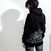 """Одежда ручной работы. Ярмарка Мастеров - ручная работа Свитшот """"On The Back"""". Handmade."""