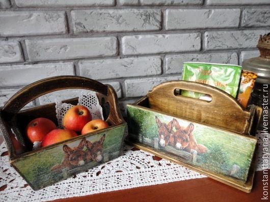 """Кухня ручной работы. Ярмарка Мастеров - ручная работа. Купить """" Деревенька моя """" набор для кухни. Handmade. Коричневый"""