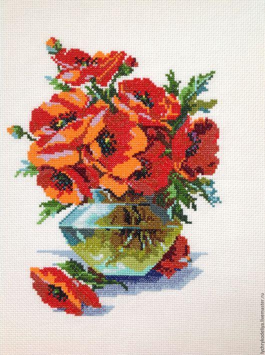 Картины цветов ручной работы. Ярмарка Мастеров - ручная работа. Купить Маки в вазе. Handmade. Ярко-красный, натюрморт с цветами
