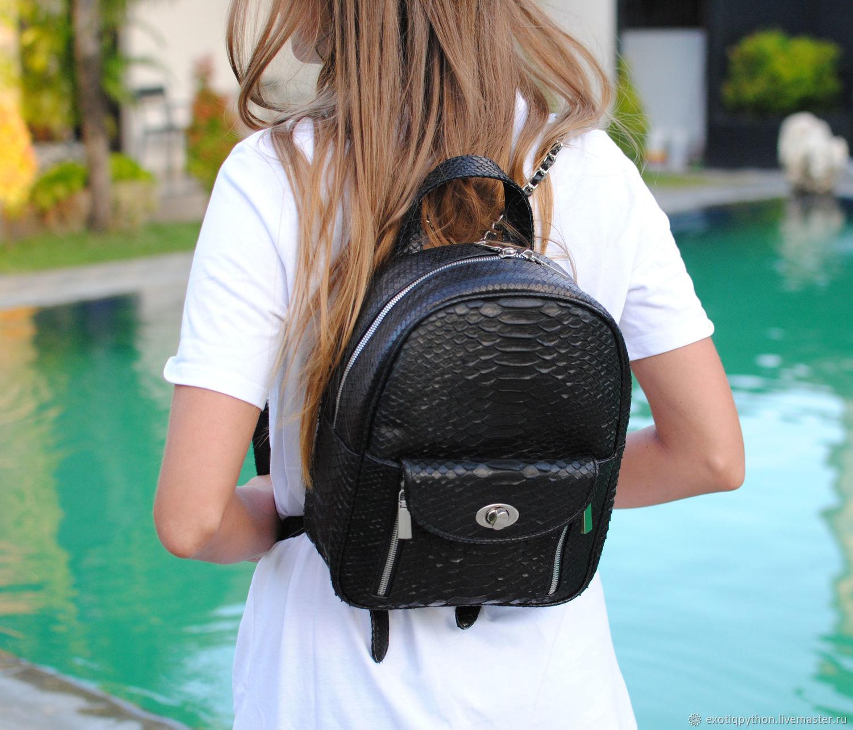Black Star Python skin backpack, Backpacks, Moscow,  Фото №1