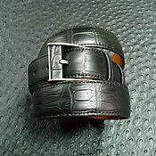 Аксессуары handmade. Livemaster - original item Genuine crocodile leather belt, 100% handmade. Handmade.