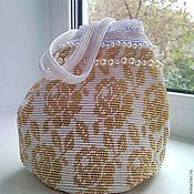 Сумки ручной работы. Ярмарка Мастеров - ручная работа Бисерная сумочка для невесты. Handmade.