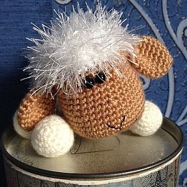 """Куклы и игрушки ручной работы. Ярмарка Мастеров - ручная работа Вязаная овечка """"Бусинка"""", символ 2015 года.. Handmade."""