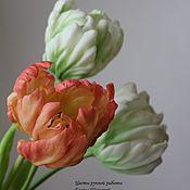Цветы и флористика ручной работы. Ярмарка Мастеров - ручная работа Попугайные тюльпаны. Handmade.